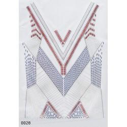 Davanti maglia geometrico